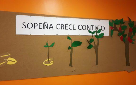 Nuevo lema: Sopeña Crece Contigo