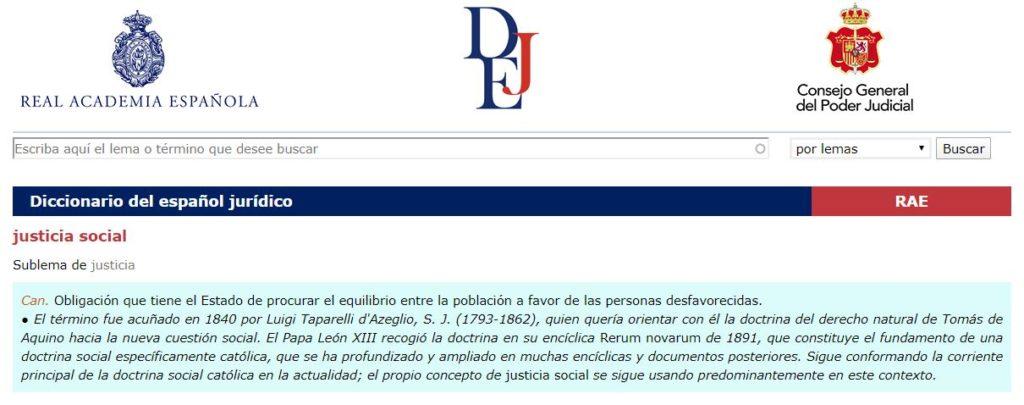 Definición Justicia Social