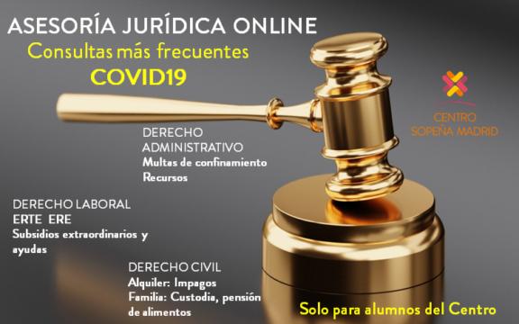 ASESORÍA JURÍDICA ONLINE POR COVID19 PARA ALUMNOS